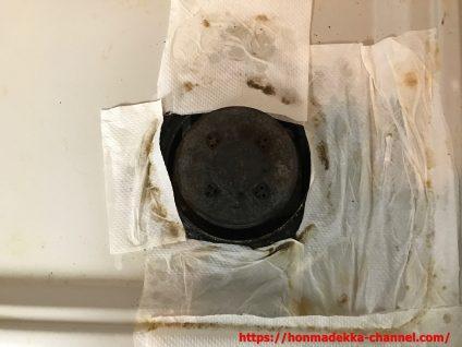 ガスコンロ  吹きこぼれ  掃除
